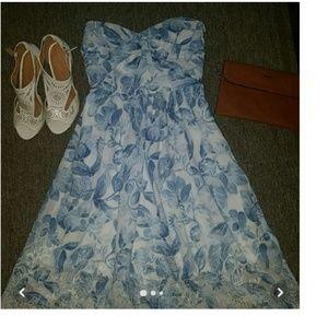 WHBM Strapless Dress. SZ 0